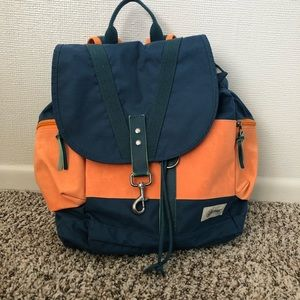 Eastpak Teal and Orange Backpack